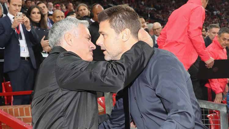 Jose Mourinho dan Mauricio Pochettino Copyright: © John Peters/Manchester United via Getty Images