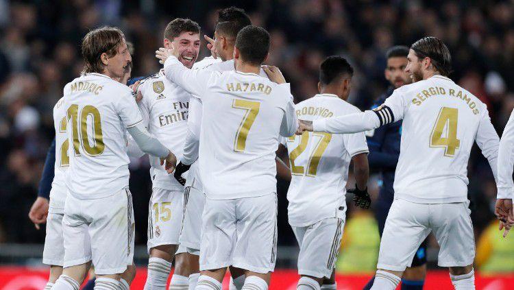 Real Madrid dipastikan tidak diperkuat bintang andalan mereka, Eden Hazard, jelang pertandingan LaLiga Spanyol bertajuk El Classico lawan Barcelona. Copyright: © https://twitter.com/realmadriden