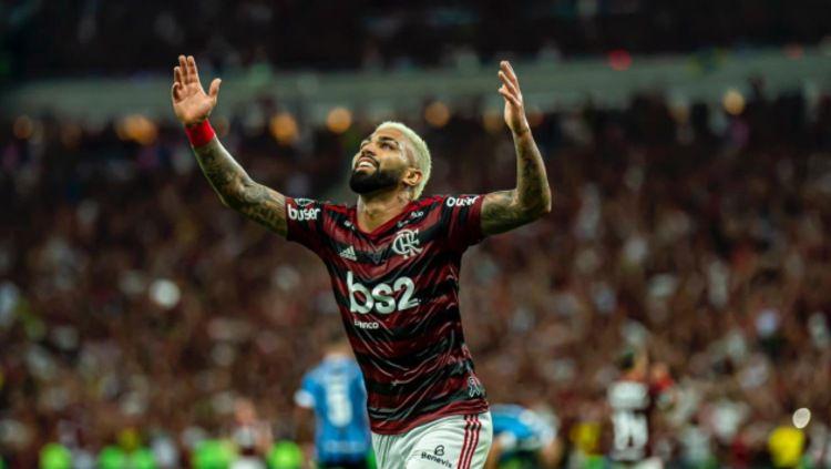 Pemain Brasil yang dipinjamkan ke Flamengo, Gabriel Barbosa, bisa kembali membawa kejayaan untuk klub Serie A, Inter Milan. Copyright: © twitter.com/Flamengo