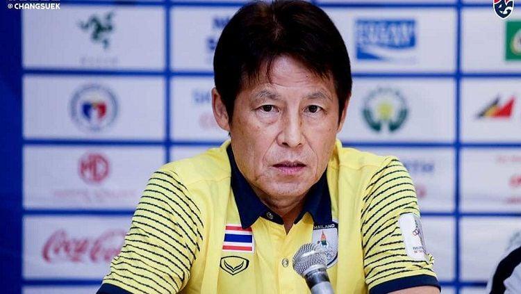 Thailand ragu bisa kalahkan Timnas Indonesia di Kualifikasi Piala Dunia 2022 karena sang pelatih, Akira Nishino, belum juga tiba. Copyright: © Fathailand.org