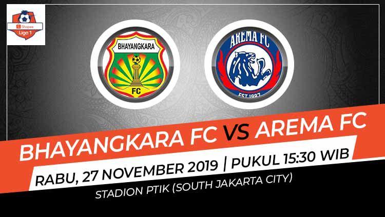 Prediksi pertandingan Liga 1 2019 pekan ke-29 antara Bhayangkara FC vs Arema FC tampaknya bakal merebut hattrick kemenangan, Rabu (27/11/19). Copyright: © Grafis: Indosport.com