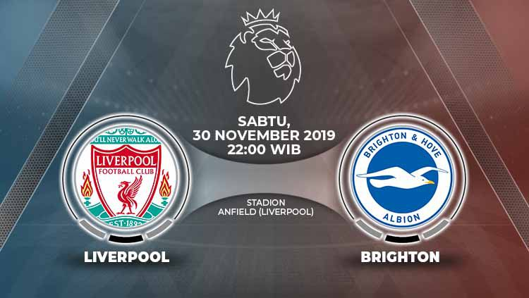 Pertandingan antara Liverpool vs Brighton & Hove Albion. Copyright: © Grafis: Indosport.com