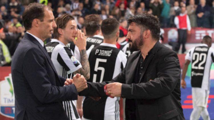 Santer disebut ingin memulangkan Massimiliano Allegri untuk menggantikan Andrea Pirlo, Juventus rupanya juga membidik legenda AC Milan, Gennaro Gattuso. Copyright: © 7LiveSport