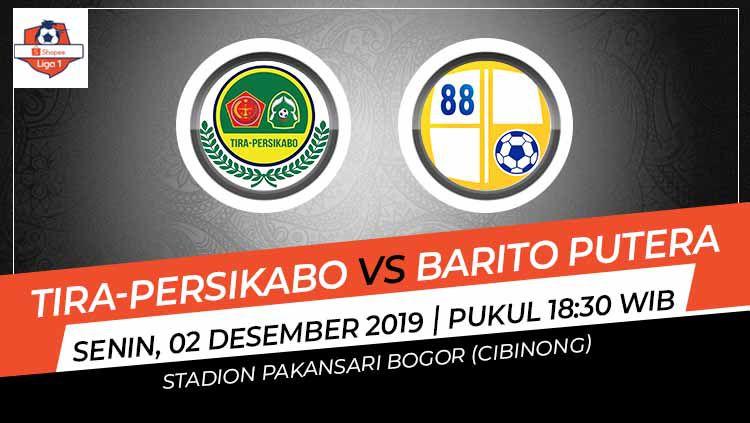 Laga pekan ke-30 Shopee Liga 1 antara Tira-Persikabo melawan Barito Putera, Senin (2/12/19), pukul 18.30 WIB, bisa disaksikan di situs live streaming Vidio.com. Copyright: © Grafis: Indosport.com