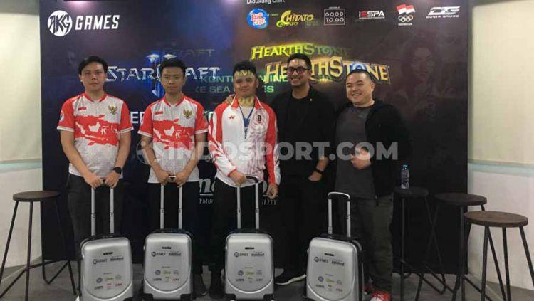 AKG Games meluncurkan kampanye untuk mendukung atlet eSports Indonesia di SEA Games 2019. Copyright: © Ergian Pinandita/INDOSPORT