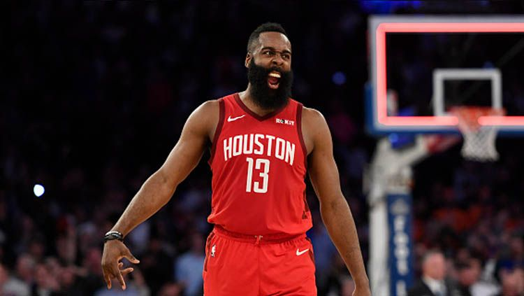 James Harden, pemain megabintang NBA dari tim Houston Rockets.jpg Copyright: © Sarah Stier/GettyImages