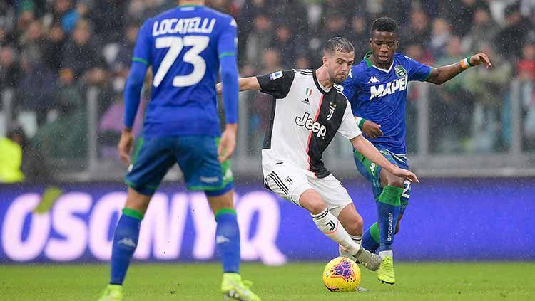 Hasil pertandingan pekan ke-14 Serie A Liga Italia yang mempertemukan Juventus vs Sassuolo berakhir dengan hasil imbang 2-2 untuk kedua tim. Copyright: © Daniele Badolato - Juventus FC/Juventus FC via Getty Images