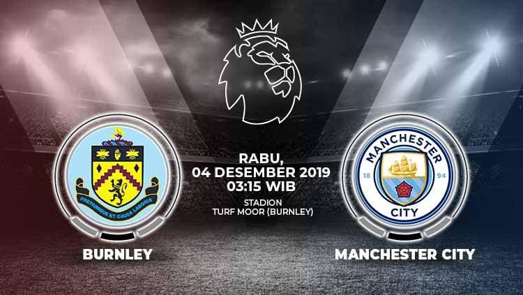 Manchester City diprediksi bisa mengalahkan Burnley di pekan ke-15 Liga Inggris, Rabu (4/12/19) pukul 03.15 WIB, di Turf Moor. Copyright: © Grafis: Indosport.com