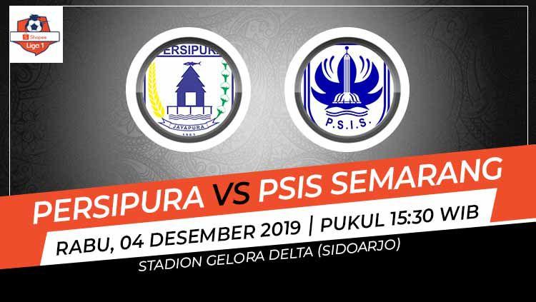 Laga pekan ke-30 Shopee Liga 1 antara Persipura Jayapura vs PSIS Semarang, Rabu (4/12/19), 15.30 WIB, bisa disaksikan di situs live streaming Vidio.com. Copyright: © Grafis: Indosport.com