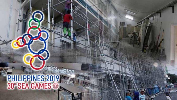 Permasalahan fasilitas amburadul di SEA Games di Filipina 2019. Copyright: © Grafis: Indosport.com