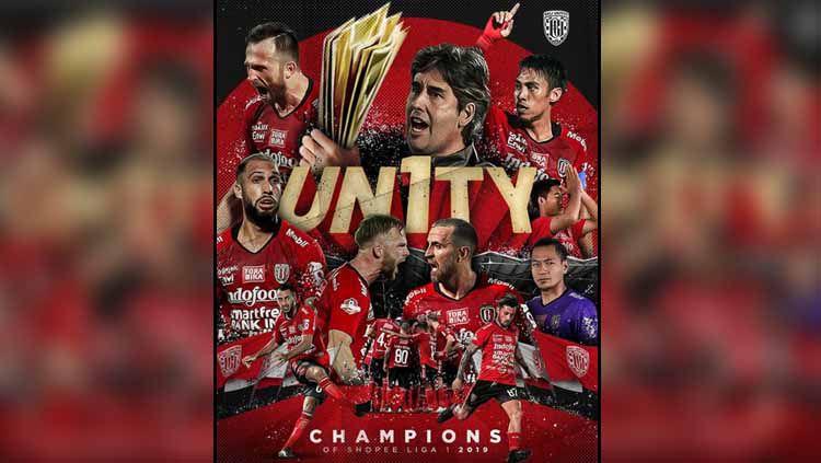 Bali United juara Liga 1 2019 Copyright: © Instagram Bali United