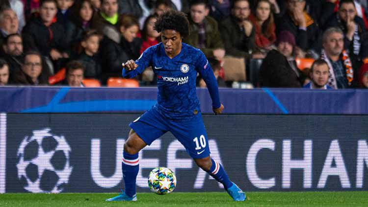 Pemain bintang klub Liga Inggris, Chelsea, Willian Copyright: © TF-Images/GettyImages