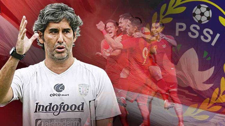 Pelatih yang sukses mengantarkan Bali United meraih gelar juara Liga 1 2019 Stefano Cugurra Teco mengaku sangat bangga jika diminta melatih Timnas Indonesia. Copyright: © Grafis: Yanto/Indosport.com