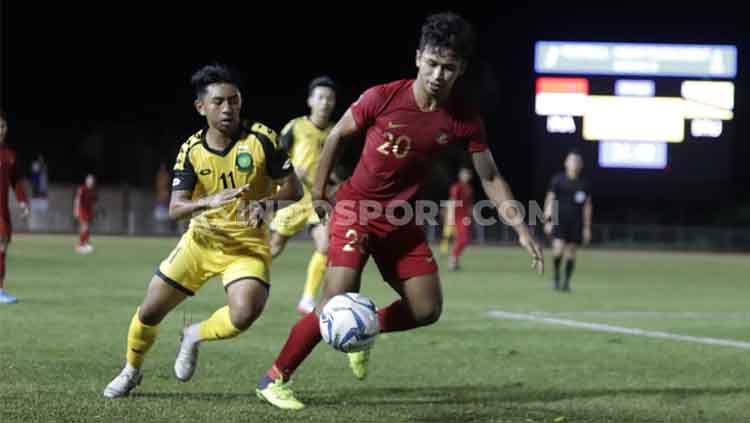 Situasi pertandingan keempat Grup B SEA Games 2019 antara Timnas Indonesia U-23 vs Brunei Darussalam, Selasa (03/12/19). Copyright: © Ronald Seger Prabowo/INDOSPORT