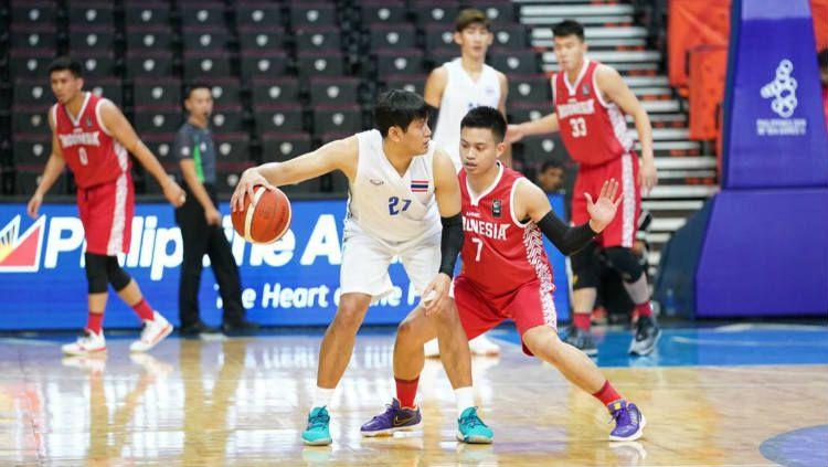 Andakara Prastawa di laga basket Timnas Indonesia vs Thailand SEA Games 2019. Copyright: © Media CDM
