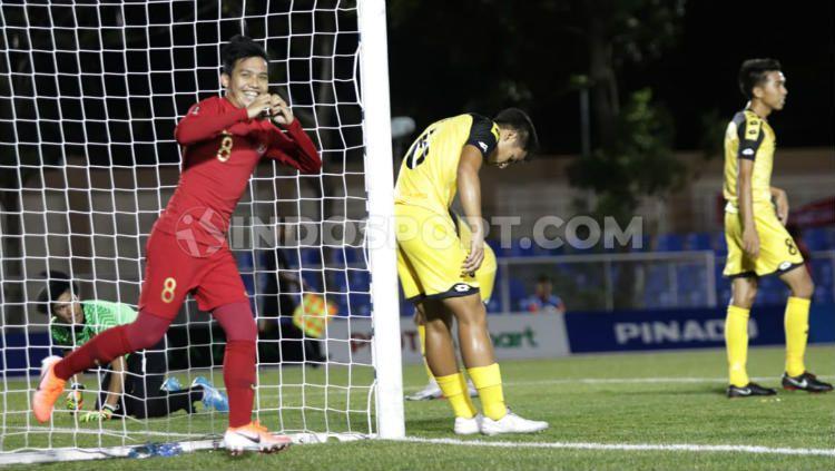 Manajer Timnas U-23, Sumardji memastikan skuat garuda akan diguyur bonus jika bisa mengalahkan Laos dan lolos ke semifinal SEA Games 2019, Kamis (05/12/19). Copyright: © Ronald Seger Prabowo/INDOSPORT