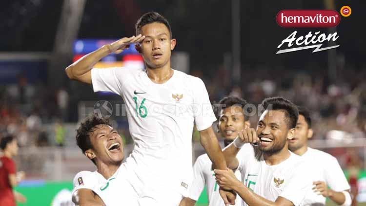 Dengan menurunkan skuat terbaik, empat pemain Timnas Indonesia U-23 diprediksi bakal bersinar di laga terakhir Grup B SEA Games melawan Laos sore nanti. Copyright: © Ronald Seger/INDOSPORT