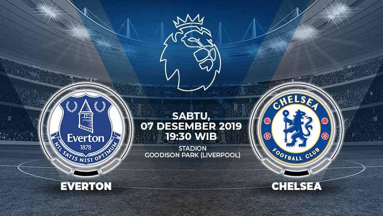 Berikut prediksi pertandingan antara Everton vs Chelsea dalam lanjutan pekan ke-16 Liga Inggris, Sabtu (07/12/19) di Goodison Park. Copyright: © Grafis: Indosport.com