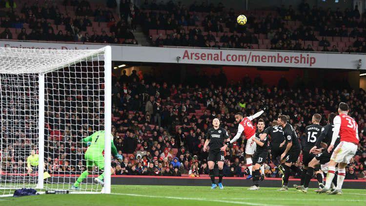 Pertandingan Liga Inggris, Arsenal vs Brighton. Copyright: © https://twitter.com/Arsenal