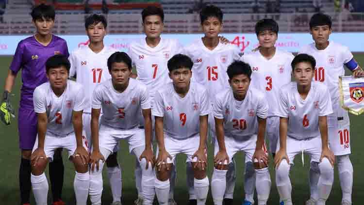 Timnas sepak bola Myanmar saat tampil di SEA Games 2019. Copyright: © Facebook.com/myanmarfootballfederation