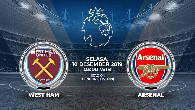 Link Live Streaming Pertandingan Liga Inggris: West Ham vs Arsenal. Copyright: © Grafis: Indosport.com