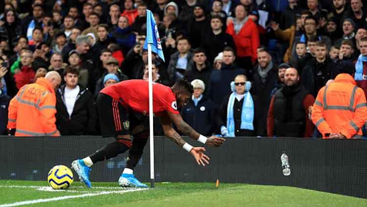 Gelandang bertahan Manchester United, Fred, buka suara mengenai rasisme yang menimpa dirinya saat timnya berkunjung ke markas Manchester City Copyright: © Mike Egerton/GettyImages