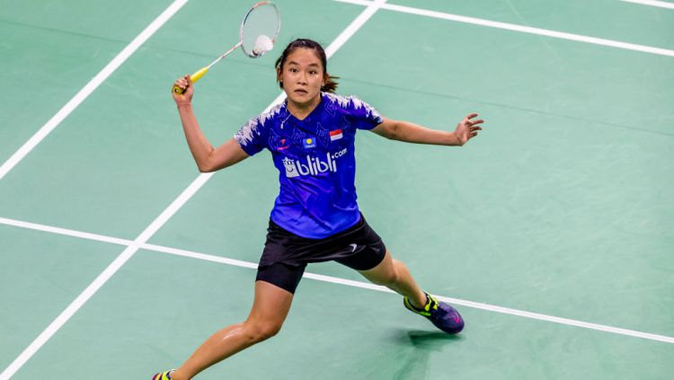 Ruselli Hartawan memapu menambah daftar bintang bulutangkis dunia yang berhasil dikalahkannya, setelah menang di semifinal SEA Games 2019. Copyright: © Yu Chun Christopher Wong/Eurasia Sport Images/Getty Images