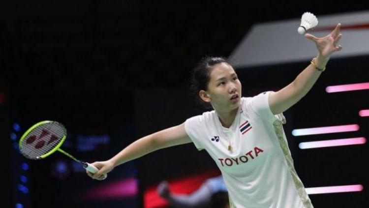 Dikalahkan Ruselli Hartawan di semifinal SEA Games 2019, berapakah ranking BWF wakil Thailand, Pornpawee Chochuwong? Copyright: © Bangkok Post.