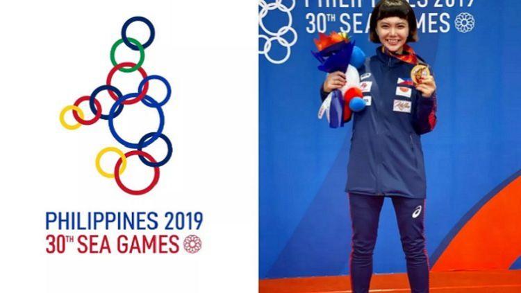 Karateka Filipina, Junna Tsukii, yang memenangkan medali emas di SEA Games 2019, mengaku di-bully pelatihnya sendiri. Copyright: © Fox Sports Asia
