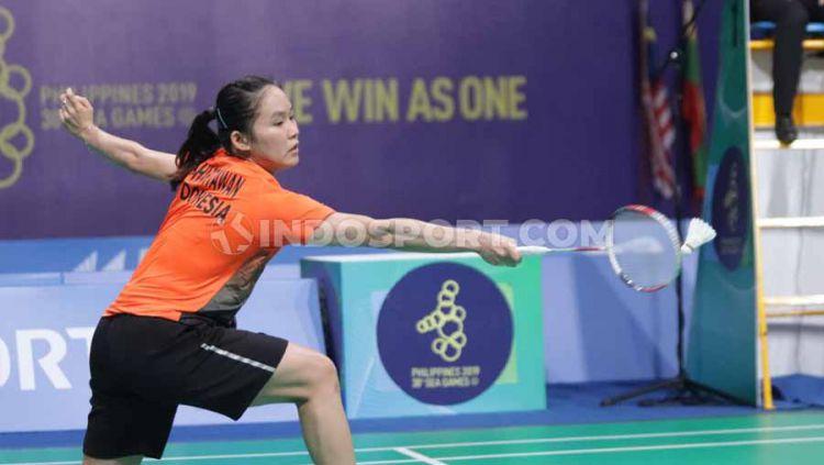 Hasil pertandingan bulutangkis Thailand Masters 2020 antara tunggal putri Indonesia, Ruselli Hartawan, vs wakil Skotladia, Kirsty Gilmour. Copyright: © Ronald Seger Pprabowo/INDOSPORT