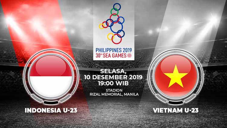 Timnas Indonesia U-23 akan berhadapan melawan Vietnam U-23 untuk memperebutkan medali emas di final Sepak Bola SEA Games 2019, berikut prediksi pertandingannya. Copyright: © Grafis: Indosport.com