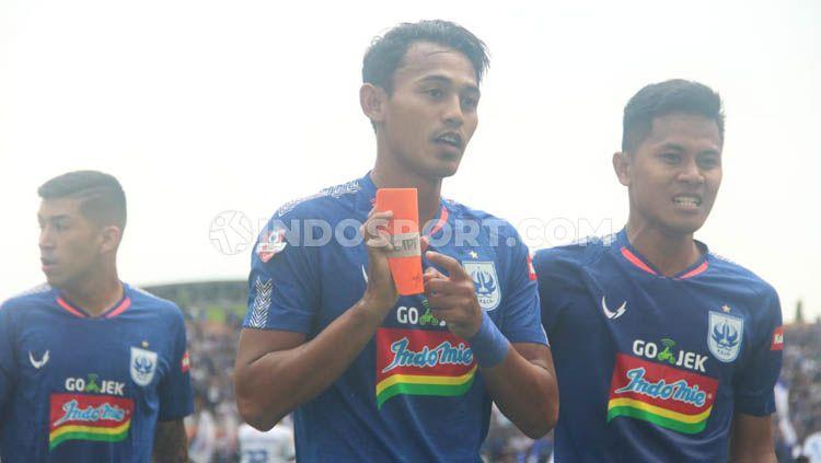 Pemain depan PSIS Semarang, Hari Nur Yulianto menyambut baik rencana PSSI yang akan melanjutkan kompetisi Liga 1 2020 di Bulan Oktober mendatang. Copyright: © Alvin Syaptia Pratama/INDOSPORT