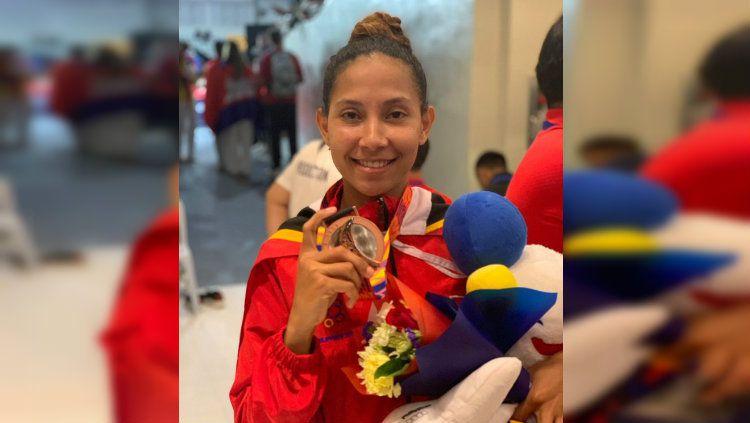 Atlet taekwondo Timor Leste, Amorin Imbrolia Araujo dos Reis, sukses mempersembahkan medali perunggu di cabang Taekwondo SEA Games 2019. Copyright: © ESPN
