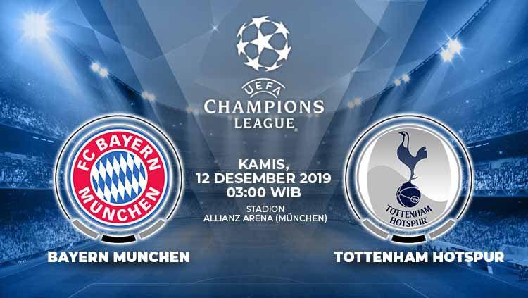 Berikut link live streaming pertandingan Liga Champions antara Bayern Munchen vs Tottenham Hotspur di Vidio.com Copyright: © Grafis: Indosport.com