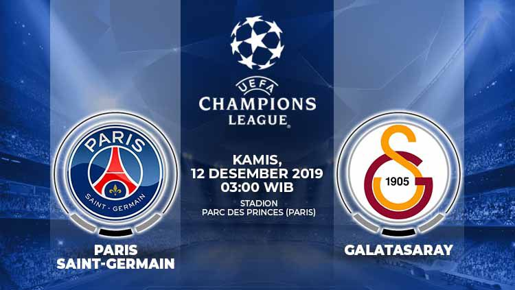 Prediksi Pertandingan Liga Champions PSG vs Galatasaray. Copyright: © Grafis: Indosport.com