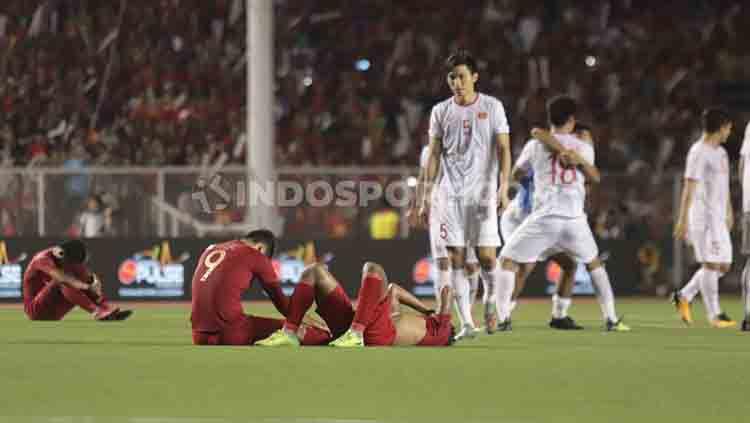 Para pemain Vietnam dituduh melakukan doping sehingga bisa menang 3-0 atas Timnas Indonesia U-23 di final SEA Games 2019. Copyright: © Ronald Seger Prabowo/INDOSPORT