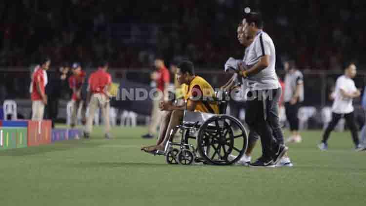 Media Vietnam menyebutkan bahwa Doan Van Hau sudah minta maaf kepada Evan Dimas terkait insiden tekelan keras. Copyright: © Ronald Seger Prabowo/INDOSPORT