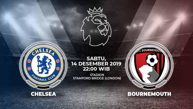 Chelsea punya kesempatan yang bagus untuk menjaga posisi empat besar dengan menjamu AFC Bournemouth di Stamford Bridge, Sabtu (14/12/19), pukul 22.00 WIB. Copyright: © Grafis: Indosport.com