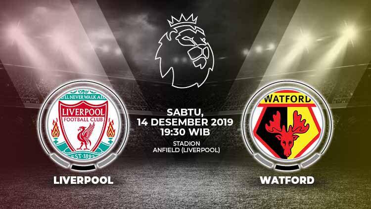 Berikut prediksi pertandingan sepak bola kompetisi Liga Inggris pada pekan ke-17 antara tuan rumah Liverpool vs Watford. Copyright: © Grafis: Indosport.com