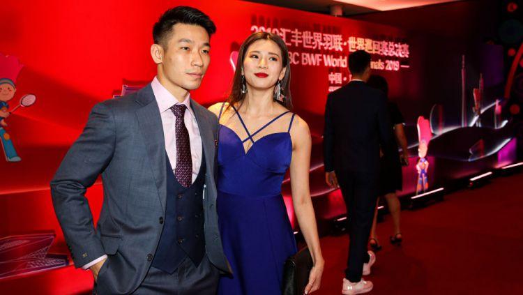Pebulutangkis ganda campuran Malaysia, Goh Liu Ying (kanan) saat bersama dengan Chan Peng Soon. Copyright: © Shi Tang/Getty Images