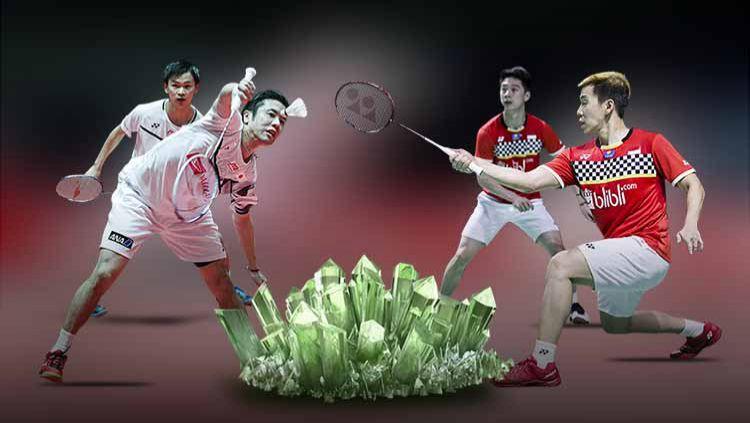 BWF 'salut' dengan kehebatan pasangan Hiroyuki Endo/Yuta Watanabe yang sukses buat Kevin Sanjaya/Marcus Gideon pontang-panting di semifinal World Tour Finals. Copyright: © Grafis: Indosport.com