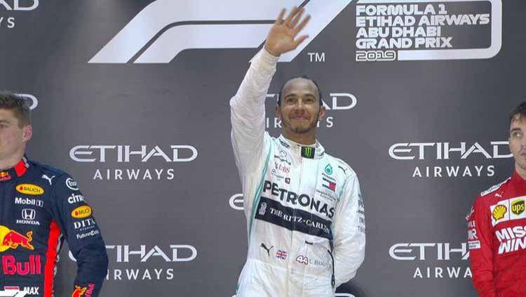 Lewis Hamilton pertahankan gelar juara Formula 1 2019 - 01 Desember 2019. Copyright: © Twitter/F1