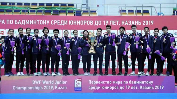 Indonesia juara pertama kali Kejuaraan Dunia Junior Bulutangkis 2019. Copyright: © badmintonindonesia