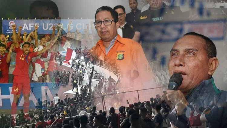Terdapat sejumlah peristiwa penting di sepak bola nasional sepanjang 2019, mulai dari prestasi hingga kerusuhan suporter. Copyright: © Grafis: Ynt/Indosport.com