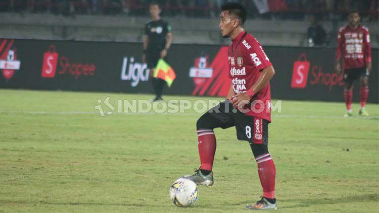 Gelandang klub Liga 1, Bali United, Taufiq, menilai Hamka Hamzah punya pengaruh besar bagi Persita Tangerang. Copyright: © Nofik Lukman Hakim/INDOSPORT