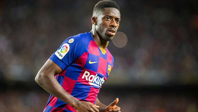 Ousmane Dembele, striker muda klub LaLiga Spanyol, Barcelona, yang kabarnya diminati Liverpool. Copyright: © Tim Clayton/GettyImages