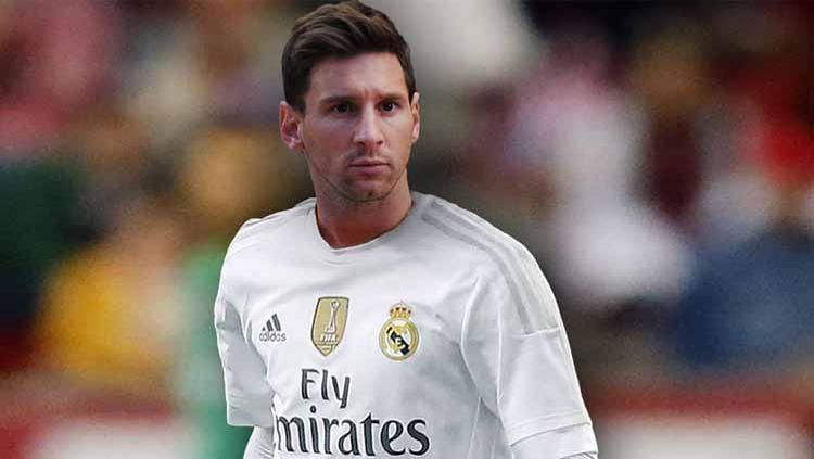 Sebelum loyal ke Barcelona, Lionel Messi hampir gabung Real Madrid berkat Florentino Perez. Ditolak mentah-mentah, inikah cara balas dendam rival LaLiga Spanyol itu. Copyright: © Grafis:Ynt/Indosport.com