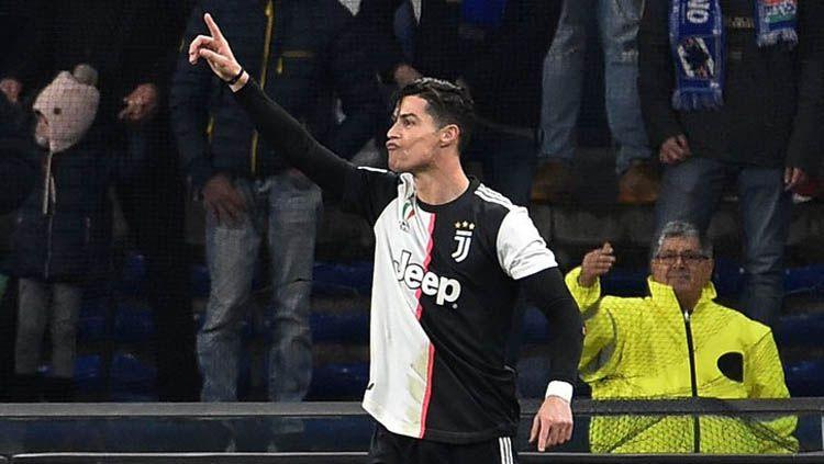Fakta di luar nalar dan serba 35 yang dibuat bintang Juventus, Cristiano Ronaldo, usai mencetak gol ke gawang AC Milan pada leg pertama semifinal Coppa Italia. Copyright: © Twitter/@ibsoryofficial