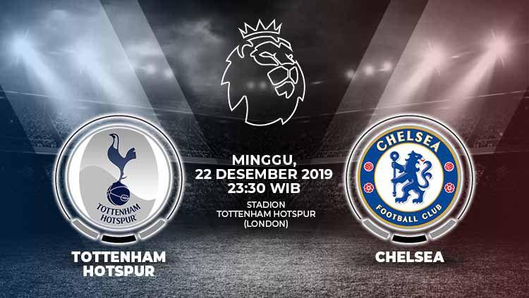 Tottenham Hotspur diprediksi bakal menemui perlawanan sengit dari Chelsea pada pekan ke-18 Liga Inggris, Minggu (22/12/19), pukul 22.30 WIB. Copyright: © Grafis: Ynt/Indosport.com