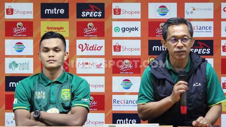 Rachmat Irianto (kiri), Aji Santoso (kanan). Copyright: © Fitra Herdian/INDOSPORT